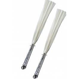 The Raw Steel Ingus Silicone Flogger - (Pair - White Silicone)
