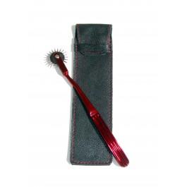 Limited Edition Red Wartenberg Pinwheel & Leather Sheath
