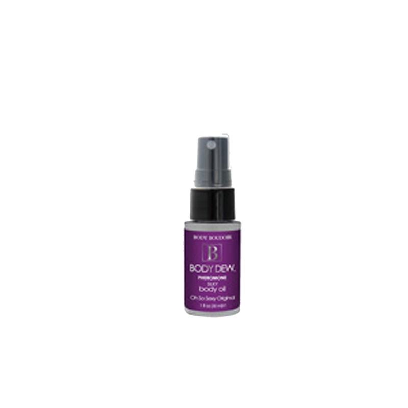Body Dew, Silky Body Oil w/ Pheromones, Oh So Original, 1 fl oz, Mist Bottle