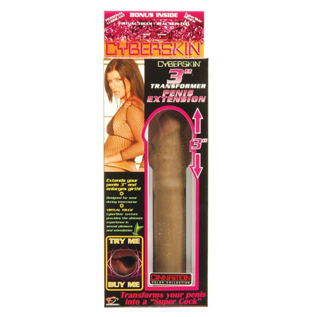 Cyberskin 3 Inch Penis Extension (Cinnamon)