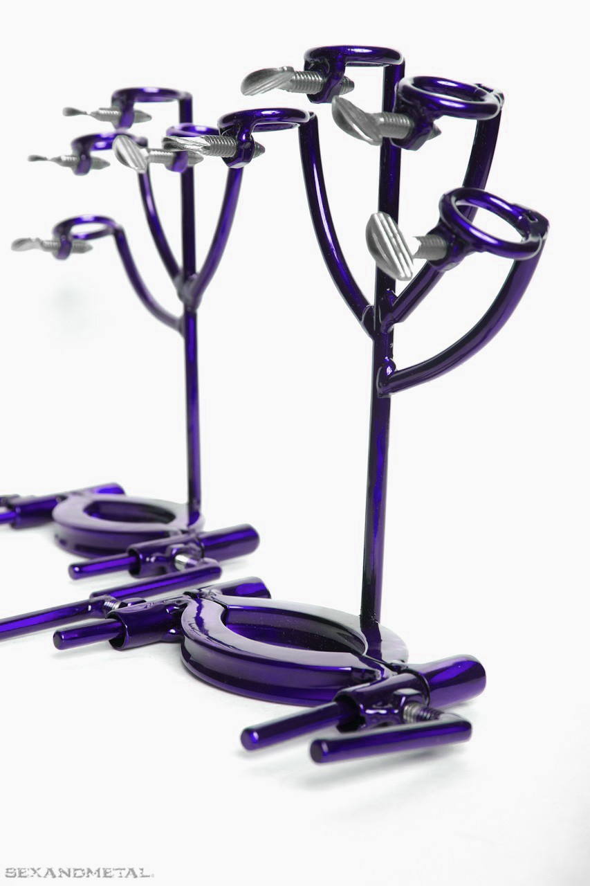 purple BDSM - Bondage Hand traps by sexandmetal.com