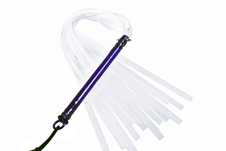 Purple kurtana silicone flogger in red