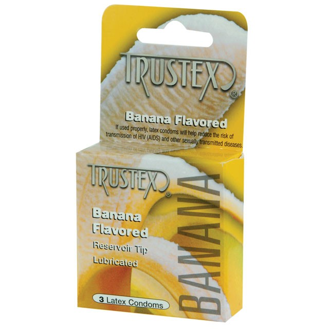 Trustex Flavored Condoms (Banana/ 3 Pack)