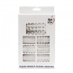 A&E Super Stretch Tickler Sleeves Clear