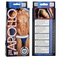 Apollo Mesh Jock with C-Ring - Blue L/XL