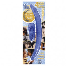 Bendable Vibrating Double Dong (Blue)