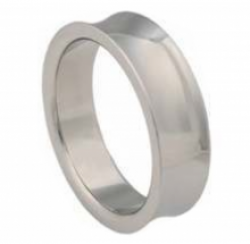 Beveled Designer Stainless Steel Cock Ring - thumbnail