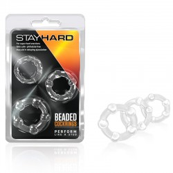 Blush Stay Hard Cock Rings 3 (Clear)