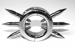 frontal view of the spiked ball stretcher, cbt device.