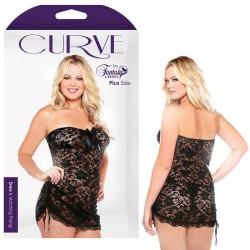 Curve Lace Strapless Dress & Matching Thong 1X/2X