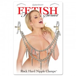 Fetish Fantasy Rock Hard Nipple Clamps Silver