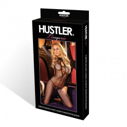Hustler Crotchless Long Sleeve Bodystocking