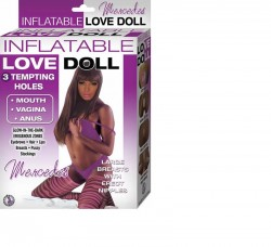 Inflatable Love Doll Mercedes,3 Hole,Missionary Position Brown
