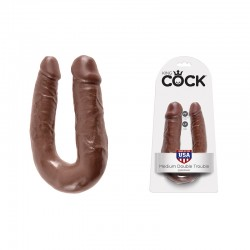 King Cock - Double Trouble Brown Medium