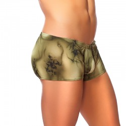 Male Power Skyview Pouch Short Olive Lrg