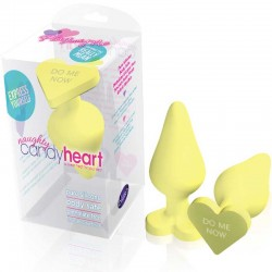 Blush Naughty CandyHeart Anal Plug (Yellow)