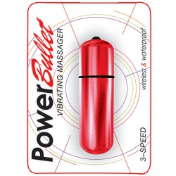 Power Bullet Vibrating 3 Speed Massager Red