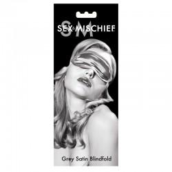 S&M Grey Satin Blindfold
