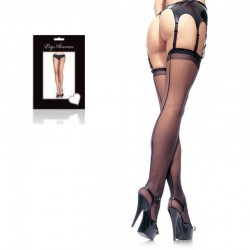Sheer Backseam Stocking O/S Black