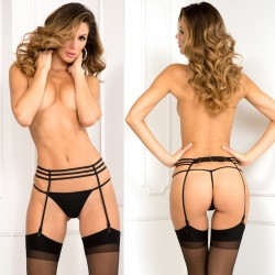 Sweet Sinner Garter Belt Black S/M