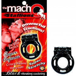 The Macho Stallions Vibrating Cock Ring (Black)