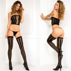 Threesome 3pc Seamless Set Black O/S