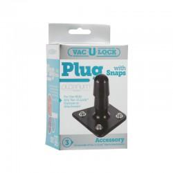 Vac-U-Lock Platinum - Black Plug - With Snaps