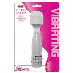 Wet Dreams Happy Ending Diamond Wand-White