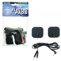 Zeus Adhesive Silicone Pads Black (2pk)