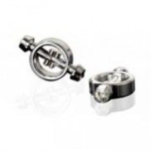 Jeweled Steel Magnetic Nipple Clamps
