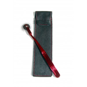 Limited Edition Red Wartenberg Pinwheel & Leather Sheath