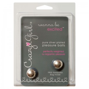 Crazy Girl Silver Plated Pleasure Balls