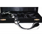 booty rooter stainless steel dildo - prostate massager detail image with box