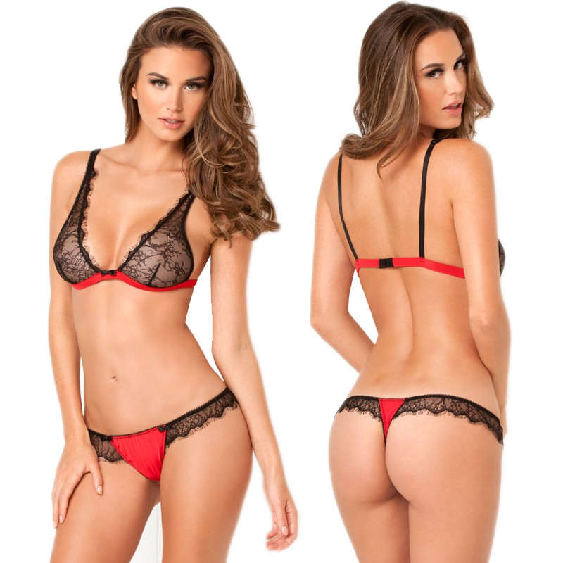 2pc Spellbound Lace Bra & Thong Set M/L