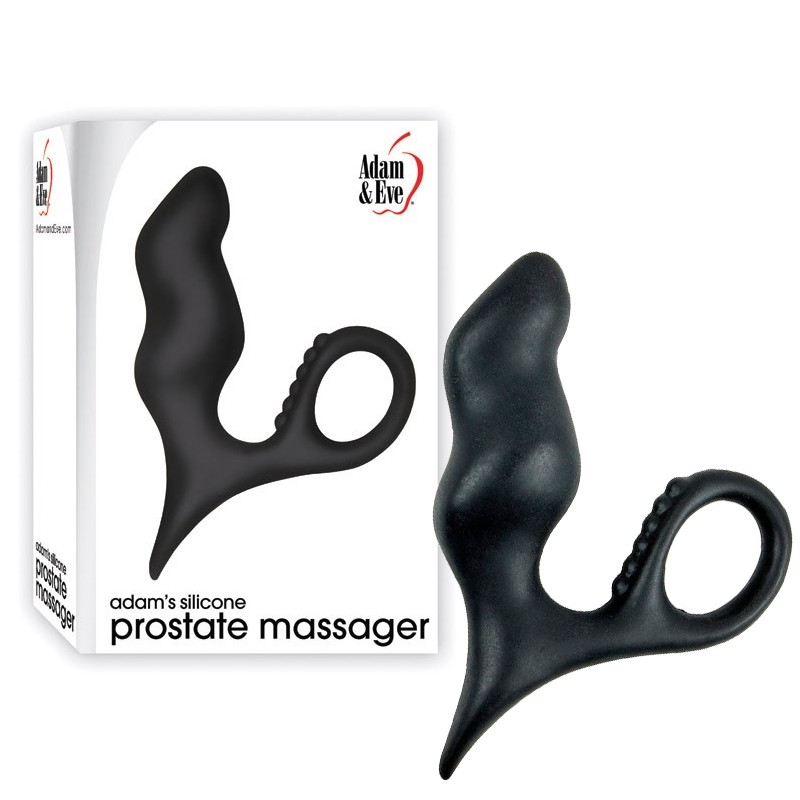 A&E Adams Silicone Prostate Massager Black