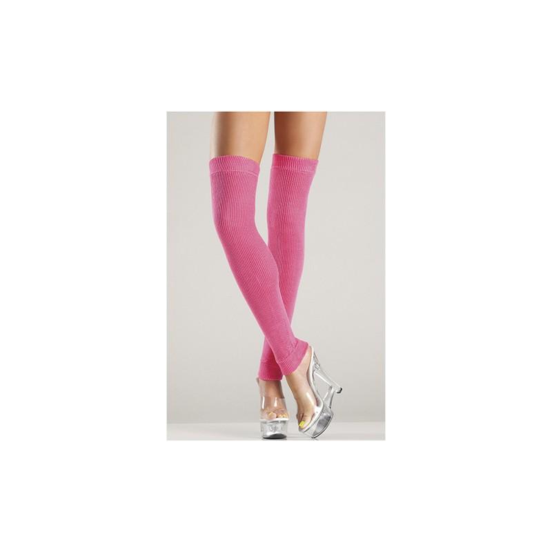Acrylic Thigh High Leg Warmer Hot Pink O/S