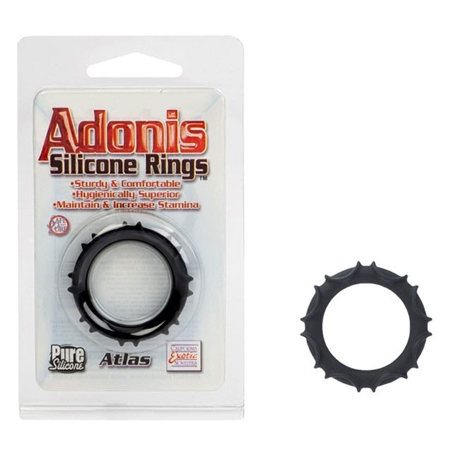Adonis Silicone Rings - Atlas - Black