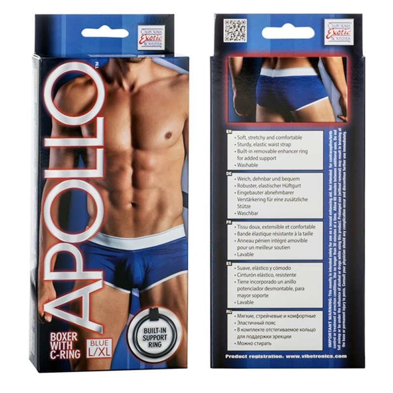 Apollo Boxer with C-Ring - Blue L/XL
