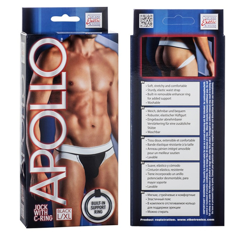 Apollo Jock with C-Ring - Black L/XL