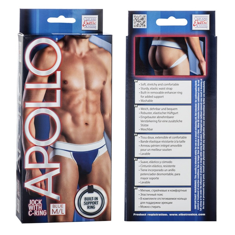 Apollo Jock with C-Ring - Blue M/L