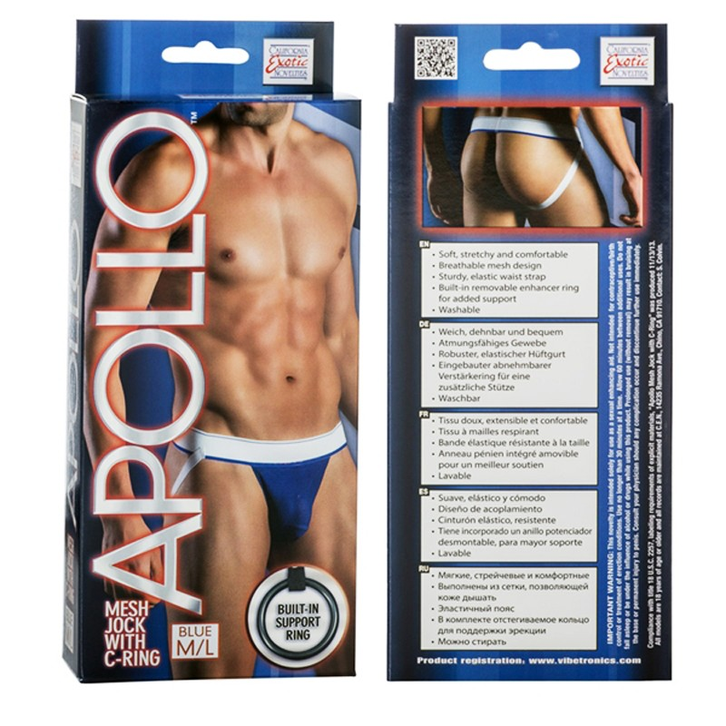 Apollo Mesh Jock with C-Ring - Blue M/L