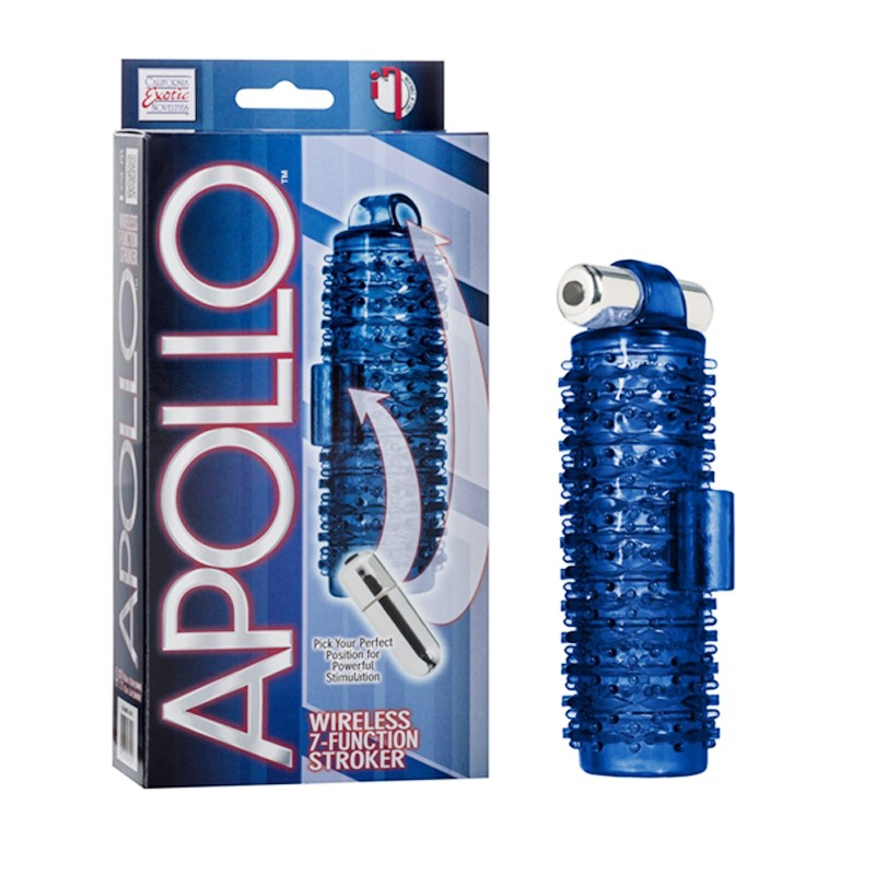 Apollo Wireless 7-Function Stroker - Blue