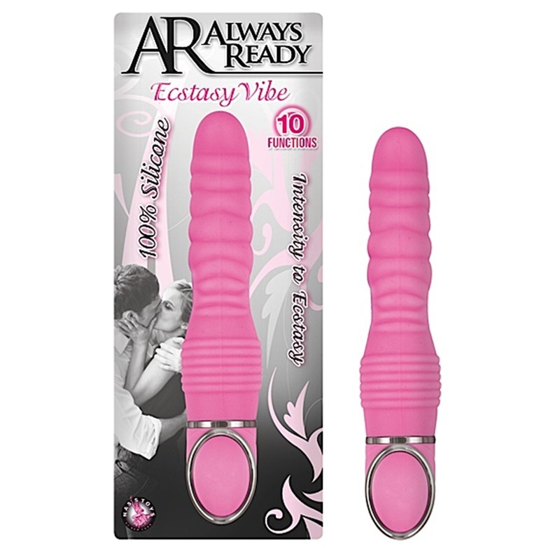 Ar Always Ready Ecstasy Silicone 10 Function Vibe-Pink