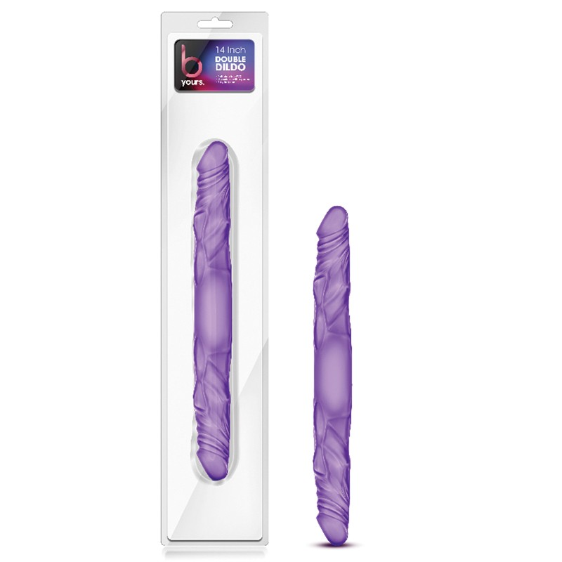 B Yours 14 in. Double Dong Purple