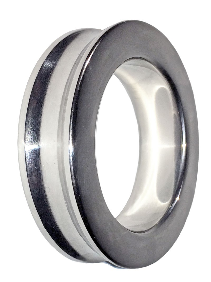 Beveled Designer Stainless Steel Cock Ring - product detail image