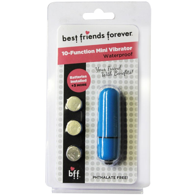 BFF Waterproof Friends w/Benefits Bullet Blue 6cm