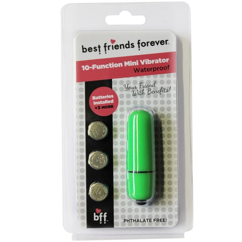 BFF Waterproof Friends w/Benefits Bullet Green 6cm