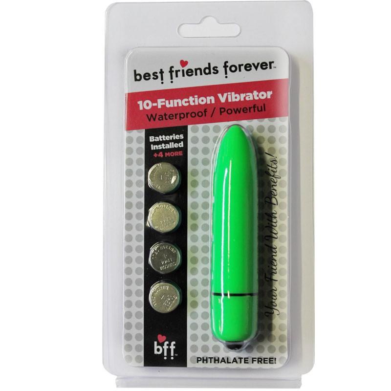 BFF Waterproof Friends w/Benefits Bullet Green 8cm