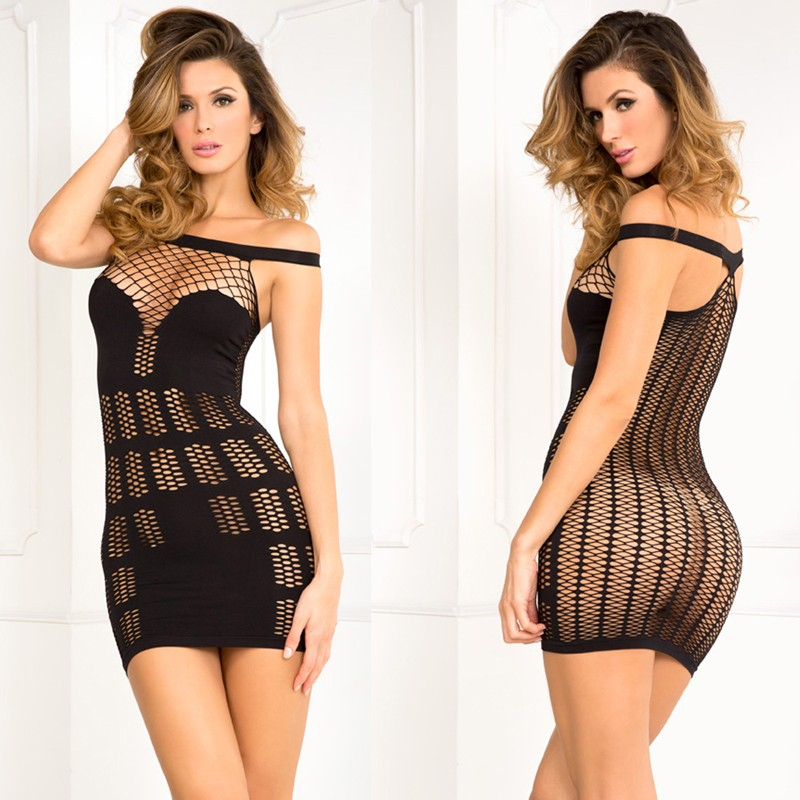 Big Spender Multi-Net Seamless Dress Black S/M