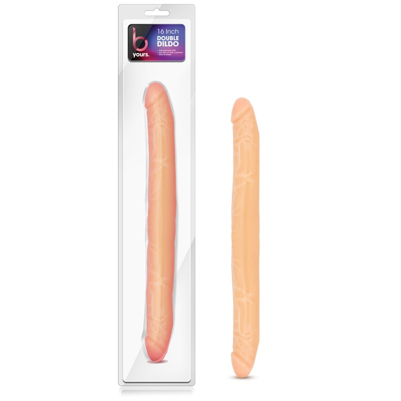 Blush B Yours Double Dildo Beige 16in